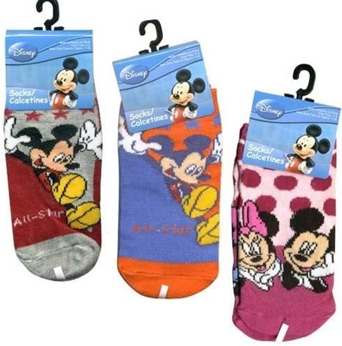 Mickey Ranking TOP13 Mouse Socks - Kids Pair Size 4-6 3 Novelty latest