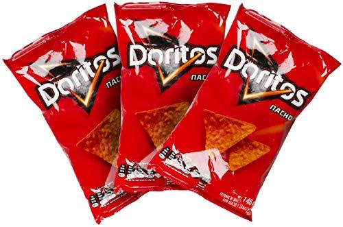 Sabritas Authentic Mexican Chips Large Bag Fresh Mexican Snacks-Cheetos Bolita, Torciditos, Colmillos, Flaming Hot, Crujitos, Churrumais, Ruffles, Rancheritos, Doritos 3-Pack (Doritos Queso)