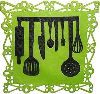 painel de festa em tnt chá de cozinha talher