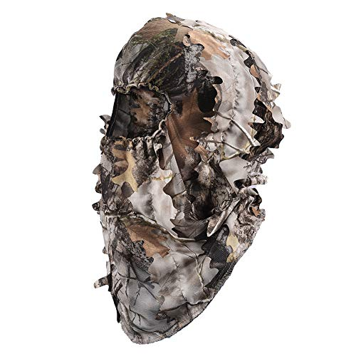 LOOGU Ghillie Face Mask 3D Leafy Ghillie Camouflage Full Cover Headwear Hunting Accessories