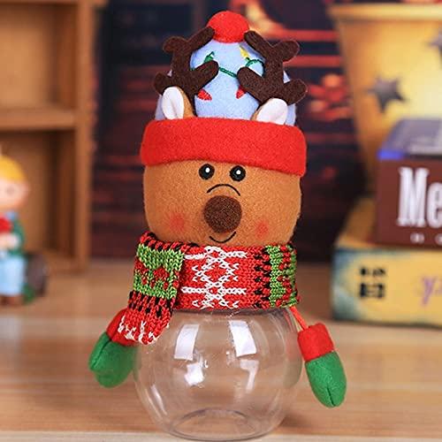 Msltely Tarro de Navidad para dulces de Navidad, bolsa de Papá Noel, caja de dulces para regalo de Año Nuevo, decoraciones de Navidad para fiestas en el hogar (color: 3)