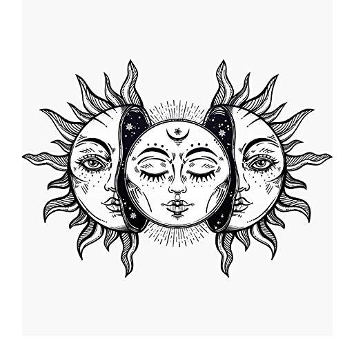 CNYG Moon Sun Tarot Serie Hippie Tapisserie Wohnkultur Tapisserie Wanddecke 4 230 * 180CM