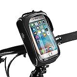 TraFellows Bolsa para Bicicleta Premium con Soporte para teléfono móvil, espaciosa Bolsa para Manillar para tu Smartphone, Funda Impermeable para el Marco
