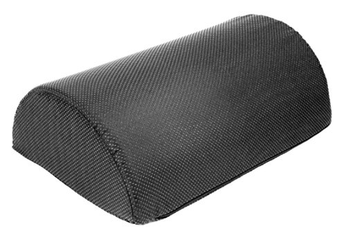 Foot Rest Cushion, Half Cylinder Design, for Home and Office (Large 17.7 ' Long by 11.8' Wide...