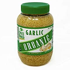 Certified Organic Ready-to-Use Fresh Minced No Preservatives, No Sodium Fat Free, Non-GMO, Kosher 32 oz. Bulk Size Container