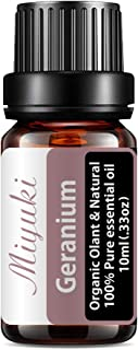 Miyuki Geranium Essential Oil Organic Plant & Natural 100% Pure Therapeutic Grade Aromatherapy Geranium Oil for Diffuser, ...