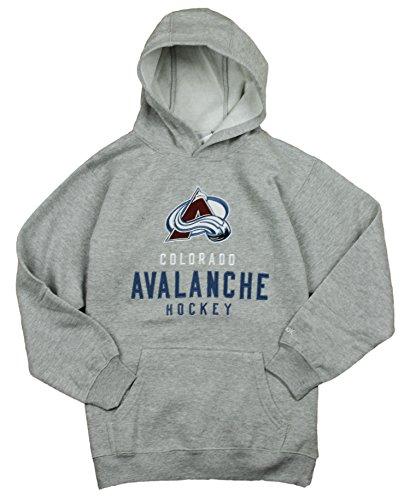 Reebok Colorado Avalanche NHL Big garçons Pull en polaire à capuche pour homme, gris, grand 14–16 – Gris