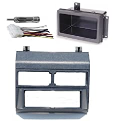 Blue Dash Kit + Black Pocket Kit + Wire Harness + Antenna Adapter Fits Single Din Aftermarket Radios Compatible with Select Chevrolet & GMC Models / Years NOT A METRA KIT