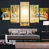 Cinco cuadros decorativos 5 piezas la última cena lienzo arte pintura al óleo ilustraciones abstractas carteles imágenes hogar habitación biblioteca decoración fondos de pantalla clásicos Sin...