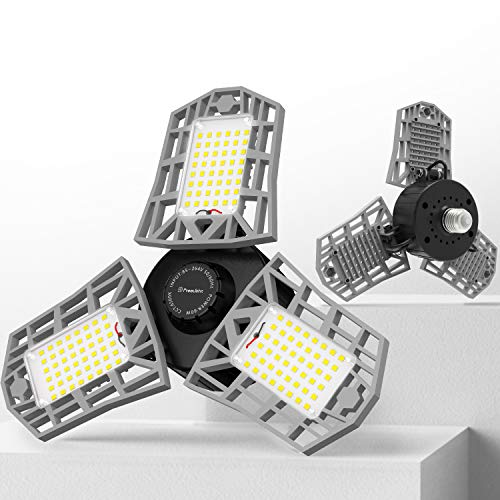 2-Pack Freelicht 60W 6500K LED Garage Lights w/ 3 Adjustable Panels $20.40 + Free Shipping