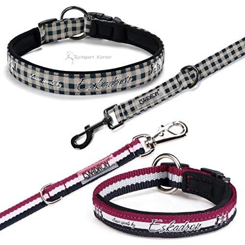 Eskadron Hundehalsbandset, Hundehalsband und Leine Classic Sports Größe M, Farbe Checked