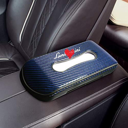 SUNQQB Per Lamborghini Scatola di Carta Creativa per Scatola di fazzoletti per Auto Decorazione d\'interni Seggiolino per Auto Scatola di fazzoletti per Auto in Fibra di Carbonio,C4