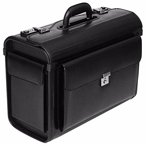 Leather Pilot Case Briefcase Flight Bag Hand Luggage Business 16' Laptop Travel