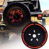 Omotor for Jeep Wrangler Spare Tire Brake Light Wheel Light 3rd Third Brake Light for 1987...