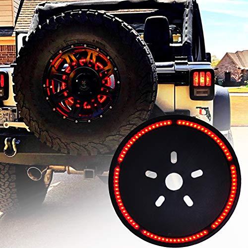 Omotor for Jeep Wrangler Spare Tire Brake Light Wheel Light 3rd Third Brake Light for 1987-2020 Jeep Wrangler JL JLU JK JKU YJ TJ/LJ