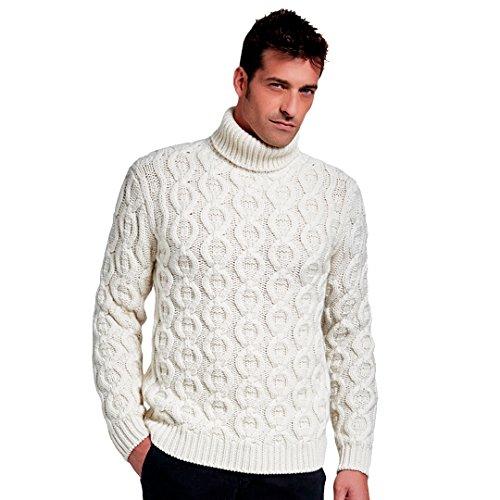 Pullovers heren trui coltrui mix van kasjmier en wol