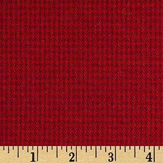 Robert Kaufman Kaufman Shetland Flannel Herringbone, Yard, Red