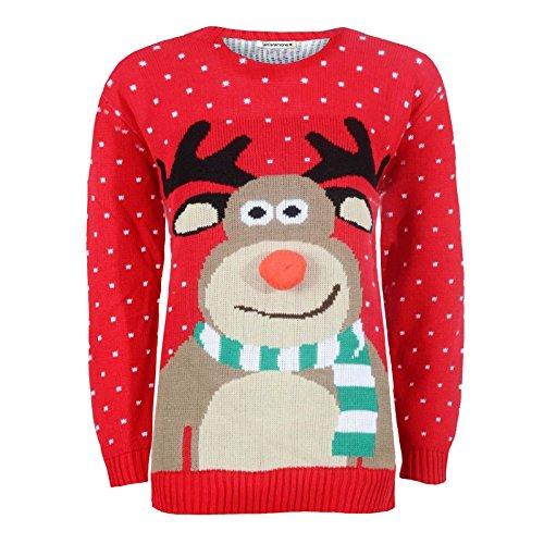 Janisramone Damen Herren Neu Unisex Weihnachten Xmas Gestrickt Jahrgang Retro Neuheit Warm Jumper Pullover