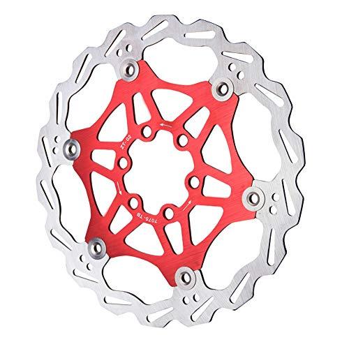 ZCO Freno de disco de freno de bicicleta de freno central de acero aleación de aluminio rojo 180 mm bicicleta de montaña MTB