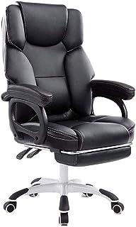 UNU_YAN Silla ergonómica Oficina de imitación de Cuero de la PU de Ordenador sillas de Escritorio Sillas de Escritorio Ejecutivo con Ruedas y Armas