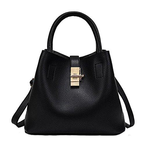 Ladies Cross Body Shoulder Bag Handbags XXL Large Capacity Bags Black for Women TOPUNDER B
