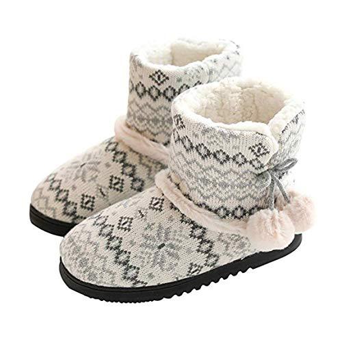 Rojeam Zapatillas de Estar por Casa para Unisexo Botas de Casa...