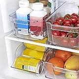 Boîte De Rangement Réfrigérateur Empilable, Boîte de collecte de cuisine, Conteneur à panier Congélateur placard plateau Compartiment Organisation D'économie D'espace Pour Légumes Et Fruits