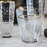 Copa de vino tinto y champán de gran capacidad con borde dorado, sin plomo, varios estilos, para todas las ocasiones, 9,5 cm de alto