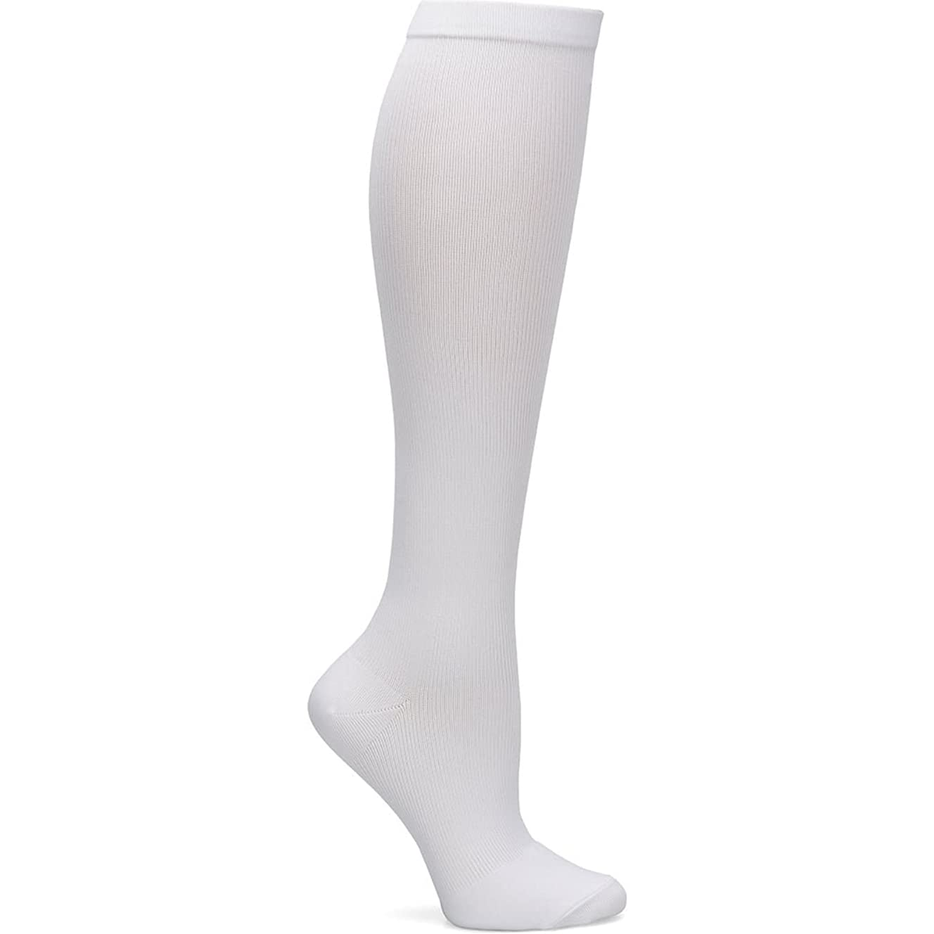 Nurse Mates Women's 12-14 Mmhg Compression Trouser Sock Solid White