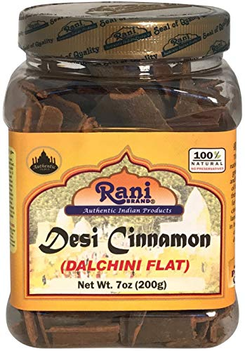 Rani Desi Dalchini Flat Cinnamon 7oz 200g ~ PET Jar Natural | Vegan | Gluten Friendly | NONGMO | Indian Origin