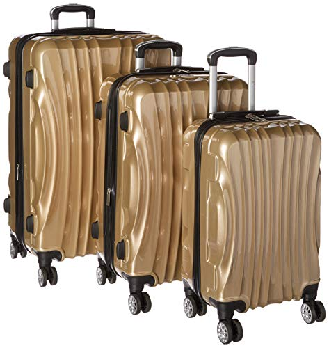 Viaggi Mia Italy Bari Hardside Spinner 3pc Set, Champagne