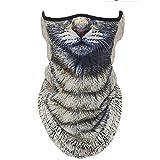 フェイスマスク ネックカバー 動物柄 フェイスガード フェイスカバー バンダナ UVカット バイクマスク ネックゲートル フェイスマスク 日焼け防止 冷感 吸汗速乾 呼吸しやすい 多機能 夏 男女兼用 (フリーサイズ, 41#) 動物柄 ハーフマスク フェイスマスク 3D プリント アニマル マスク 速乾 フェイスカバー ネックガード Animal Face Mask/サバゲー・自転車・バイク・アウトドア・コスプレ