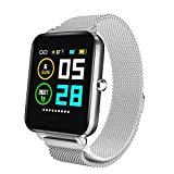 Zagzog Smart Watch: 1.54' Full Touch Screen, All-Day Activity Tracking, IP68 Waterproof, Step Counter, Pedometer, Ultra-Long Battery Life for iOS&Andriod