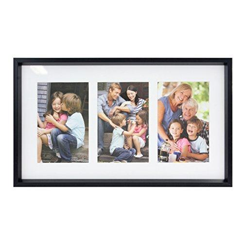 Stonebriar Marco Decorativo Negro con 3 Aberturas para Fotos de 4x6, Marco único para Fotos de Familia, bebé o Boda, Viene con...