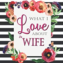 What I Love About My Wife: Color Fill In The Blank Love Books - Personalized Keepsake Notebook - Prompted Guide Memory Journal (Love Empowered Women)