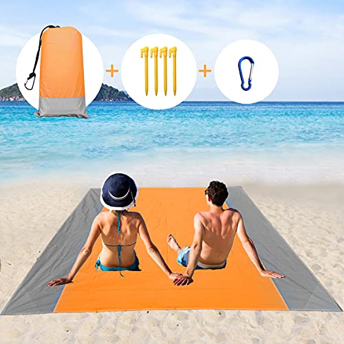 Faffooz Alfombras de Playa, Manta de Picnic de Bolsillo Impermeable Anti-Arena Extra Grande portátil Ligera Manta de Picnic para la Playa, Acampa y Otra Actividad al Aire Libre