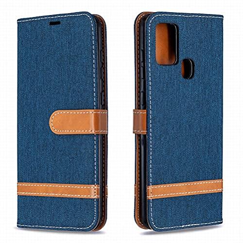 Yiizy Funda para Samsung Galaxy A21s, Carcasa Galaxy A21s Funda de Cuero con Tapa, Fundas para Tarjeteros de Crédito, Cierre Magnético Silicona Protector Estuche Samsung Galaxy A21s (Azul)