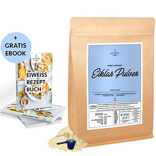 Eiklar-Pulver Reines-Eiweiss-Protein aus Österreichischen Freiland Eiern 800g