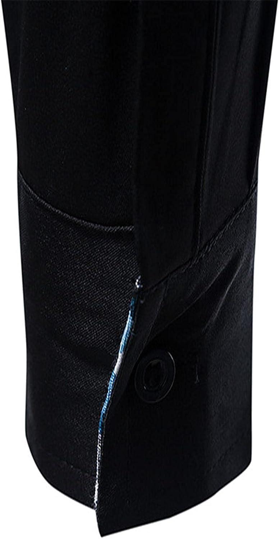 Men's Luxurious Formal Shirt Slim Fit Long Sleeve Business Work Tops Dress Shirts French Cuff Stretch Bamboo Shirt