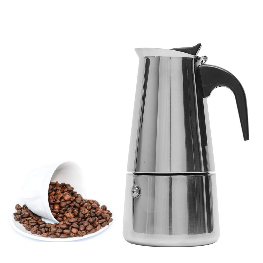 Vokmon 300ml Cafetera Italiana Cafetera induccion Espresso en Acero Inoxidable Moka Clásica 6 Taza También para la Placa de inducción el hogar Estufa de cerámica: Amazon.es: Hogar