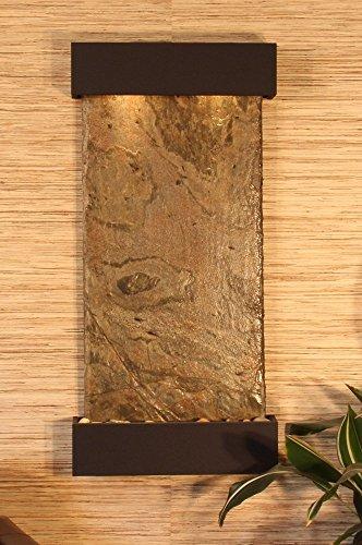 Adagio Whispering Creek Fountain w/ Green Natural Slate in Antique Bronze Finish