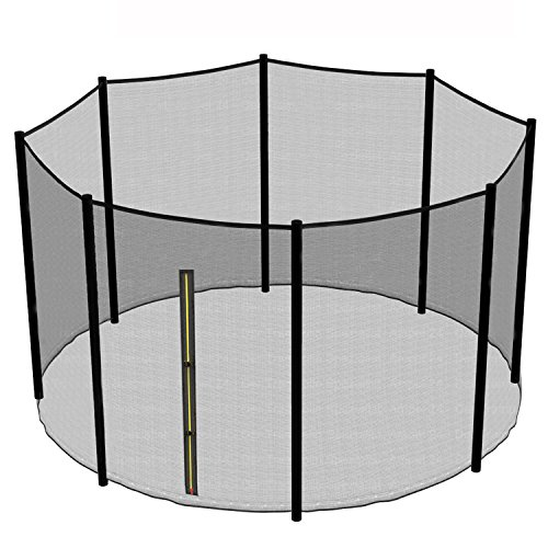Greenbay Replacement Safety Net Enclosure Surround Outside Netting Black (Net Only) - For 13FT Garden Trampoline With 8 Poles