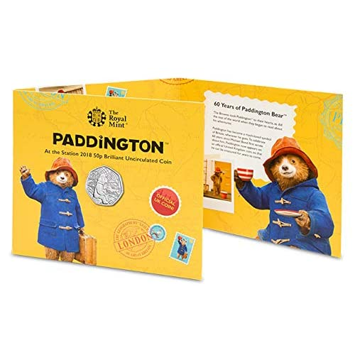 Paddington Bear Station 50p Fifty Pence coin 2018 Uncirculated