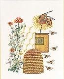 Thea Gouverneur - Kit de Punto de Cruz Contado - 3016A - Hilos DMC Preseleccionados - Muestreador de miel - Aida - 27cm x 35cm - Kit de Bricolaje