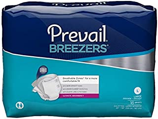 Prevail Breezers Protective Underwear, Ultimate Absorbency, Large, 18 Count (Pack of 4 (72 Count))