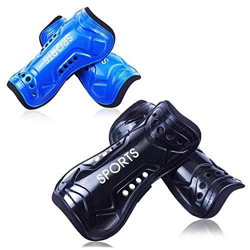 CNNIK 2 Paar Schienbeinschoner Fußball für Erwachsene und Jugend Kinder, bietet umfassenden Schutz für die Beine Ihrer Kinder