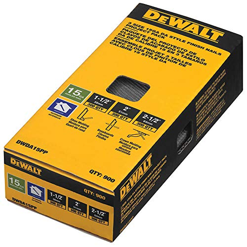 DEWALT 15 Gauge DA Nails Project Pack
