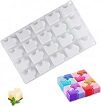 20 Cavities Puzzle Piece Silicone Chocolate Molds Puzzle Silicone Mousse Cake Baking Mold Candy Gummy Fat Bombs Making Mol...