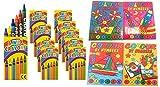 WFGraham 10 Set Malbücher Malen nach Zahlen Wachsmalstifte Malbuch 148x105mm Geburtstag Hochzeit Mitgebsel Geschenk für Kinder