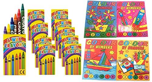 10libri da colorare coi numeri, mini libri da colorare da 148x 105mm, il regalo ideale per una festa di bambini o un compleanno